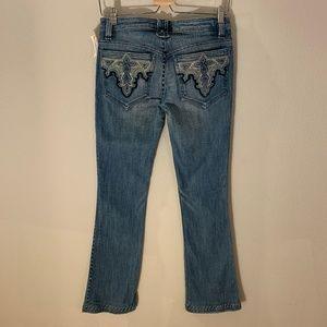 Antik Denim Boot cut Jeans w/ Side & Hem Stitches